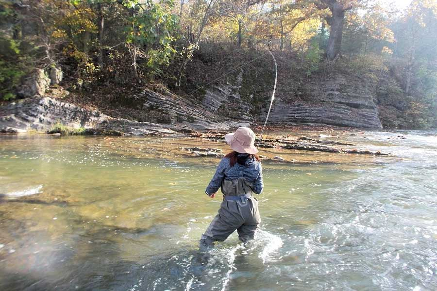 fishing in the shenandoah valley, near natural springs and lexington