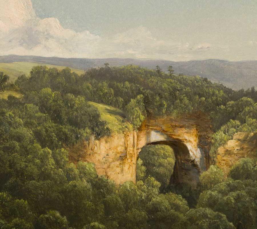 natural bridge, virginia painting