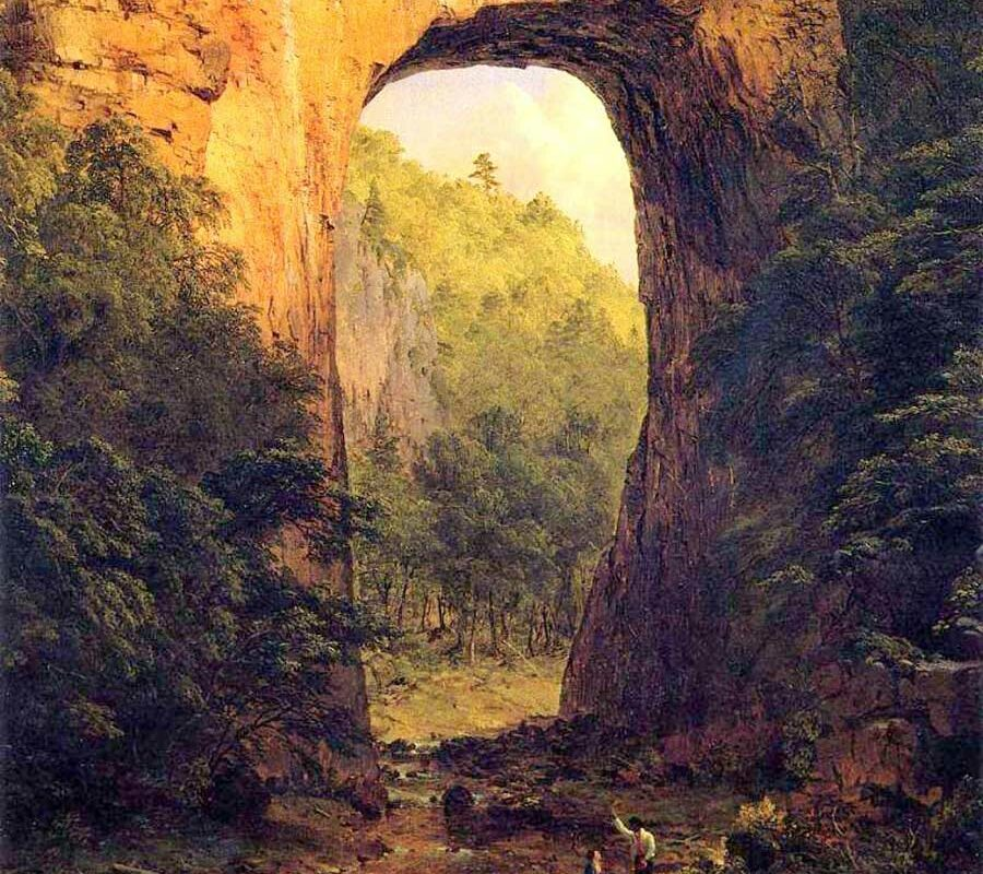 natural bridge virginia painting by Frederic Edwin Church